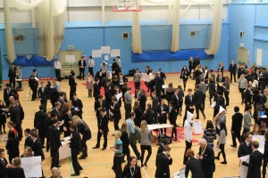 Students try and sell their new business ideas to teachers, parents and guests