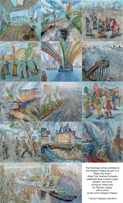 Paintings by Frank Creber for the Water City Festival (borrowed from his website)